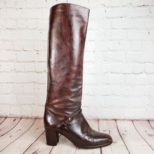 Joan & David Couture Leather Knee High Boots